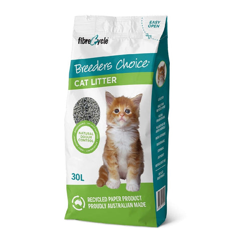 BREEDERS CHOICE CAT LITTER 30LT | Southside Stockfeeds Kilmore