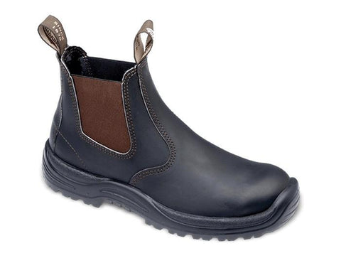 BLUNDSTONE 490 STOUT BROWN S7.5 NON SAFETY PU TPU ELASTIC SIDED | Southside Stockfeeds