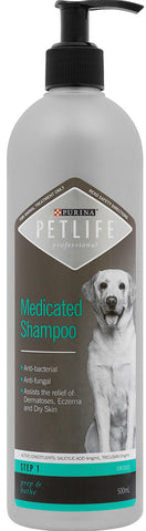 PETLIFE PROFESSIONAL MEDICATED SHAMPOO 500ML | Southside Stockfeeds Kilmore