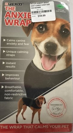 PETLIFE ANXIETY WRAP SIZE 5 LARGE CHEST SIZE 500-660MM | Southside Stockfeeds