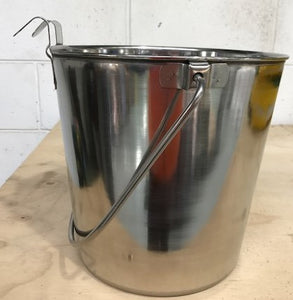 FLAT SIDED BUCKET STAINLESS STEEL 10.2 LITRE
