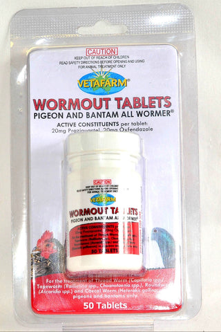 WORMOUT TABLETS PIGEON AND BANTAM ALL WORMER | Southside Stockfeeds