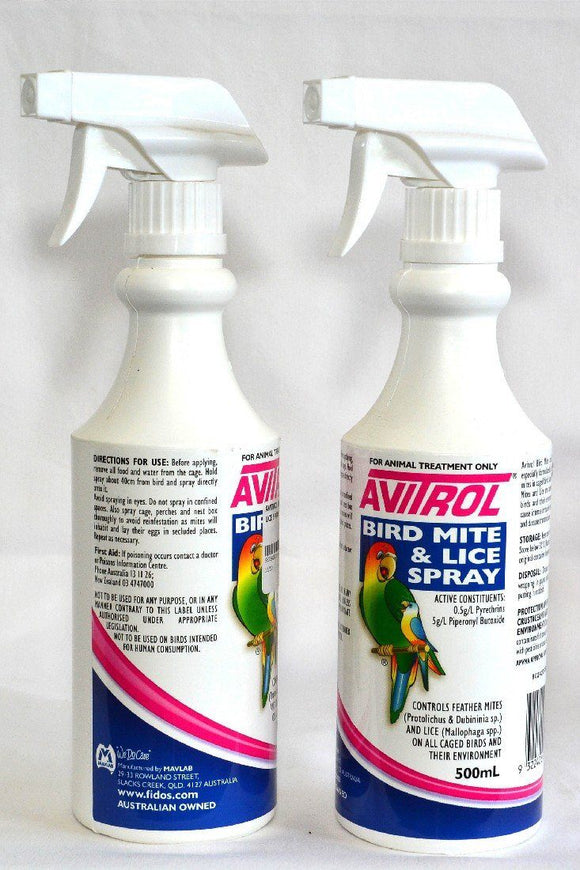 AVITROL BIRD MITE & LICE SPRAY 500ML
