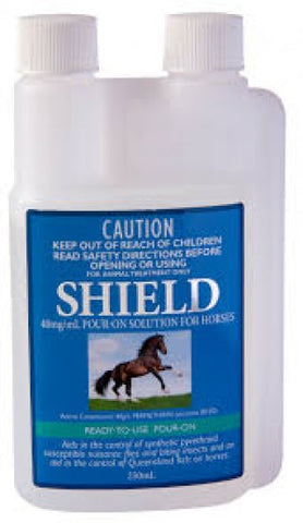 SHIELD POUR ON SOLUTION FOR HORSES 250ML | Southside Stockfeeds Kilmore