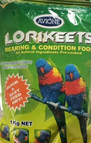 AVIONE LORIKEETS DRY REARING & CONDITIONING FOOD (DRY LORI) 1KG