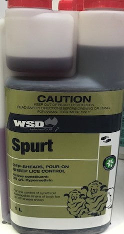WSD SPURT 1LT OFF SHEARS, POUR ON SHEEP LICE CONTROL | Southside Stockfeeds Kilmore