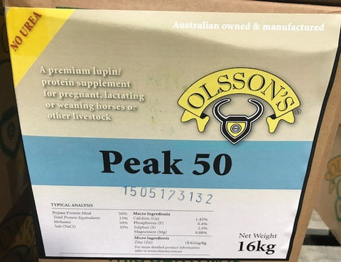 OLSSON PEAK 50 HORSE (NO UREA) 16KG OLSSONS | Southside Stockfeeds Kilmore