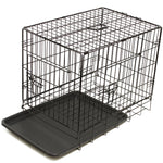 COLLAPSIBLE CRATE ABS TRAY BLACK 24"