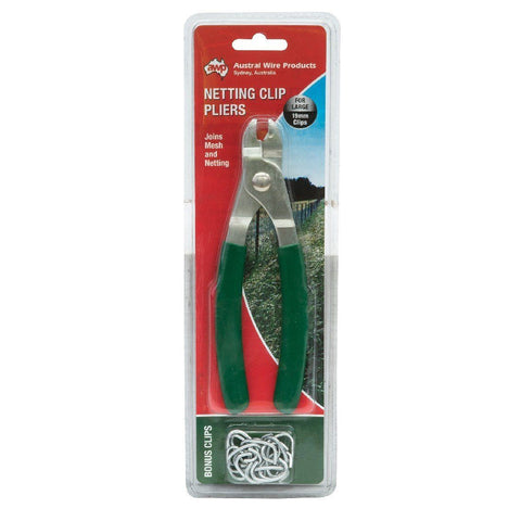 AWP NETTING CLIP PLIERS 19MM GREEN HANDLE | Southside Stockfeeds Kilmore