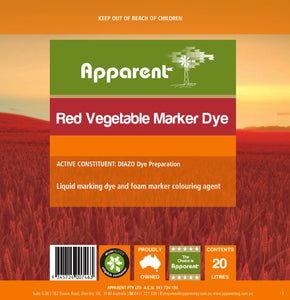 APPARENT RED VEGETABLE 5L MARKER DYE
