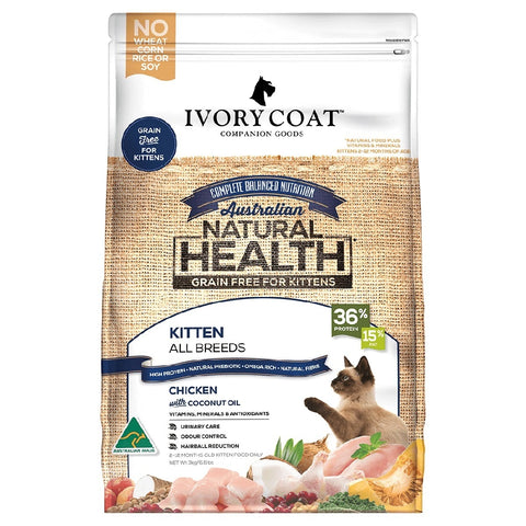 IVORY COAT KITTEN CHICKEN WITH COCONUT OIL 3KG | Southside Stockfeeds