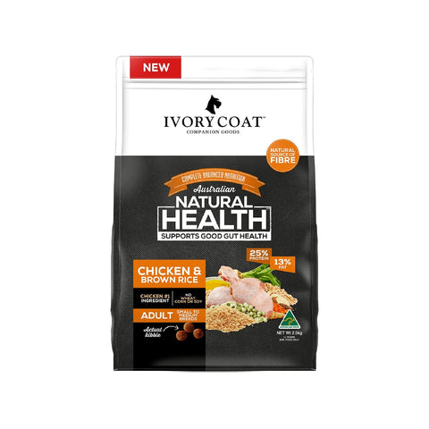IVORY COAT ADULT CHICKEN & BROWN RICE 2.5KG | Southside Stockfeeds Kilmore