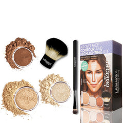 Bellapierre Cosmetics All Over Face Highlight & Contour Kit - Medium
