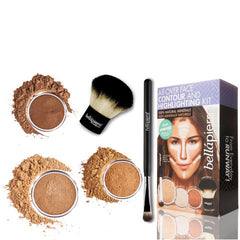 Bellapierre Cosmetics All Over Face Highlight & Contour Kit - Deep