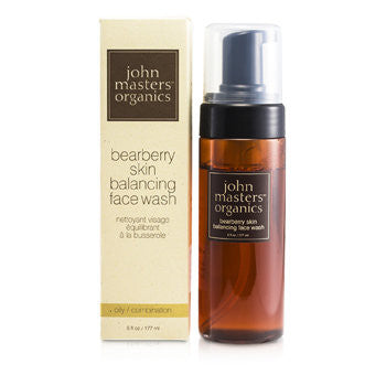 JOHN MASTERS ORGANICS Bearberry Oily Skin Balancing Face Wash (For Oily/ Combination Skin) - 177ml/6oz