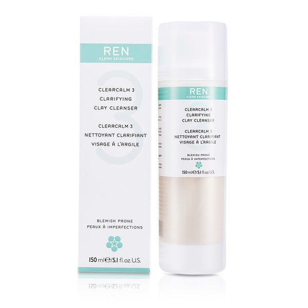 REN Clearcalm 3 Clarifying Clay Cleanser - 150ml/5.1oz