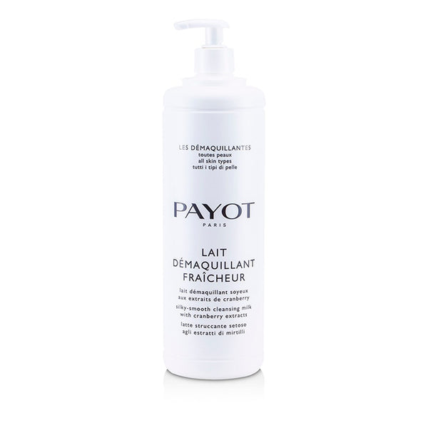 Payot Les Demaquillantes Lait Demaquillant Fraicheur Silky-Smooth Cleansing Milk - For All Skin Types - 1000ml/33.8oz