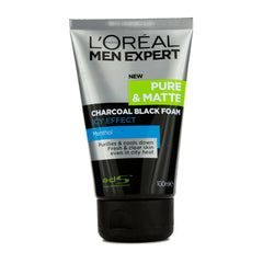 L'OREAL  Men Expert Pure & Matte Icy Effect Charcoal Black Foam - 100ml/3.4oz