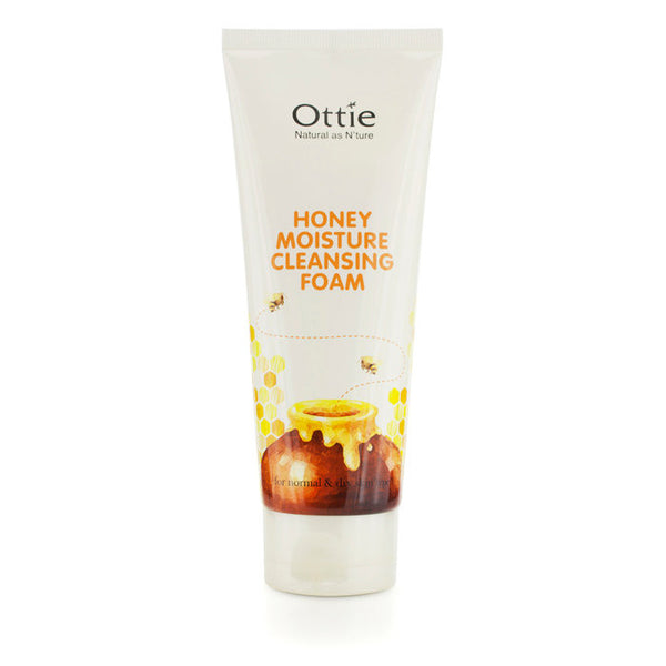 Ottie Honey Moisture Cleansing Foam (For Normal & Dry Skin) - 150ml/5.07oz