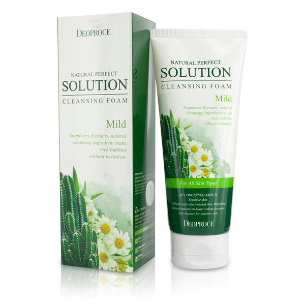 DEOPROCE Natural Perfect Solution Cleansing Foam - Mild -170g/5.7oz - kiwla.com