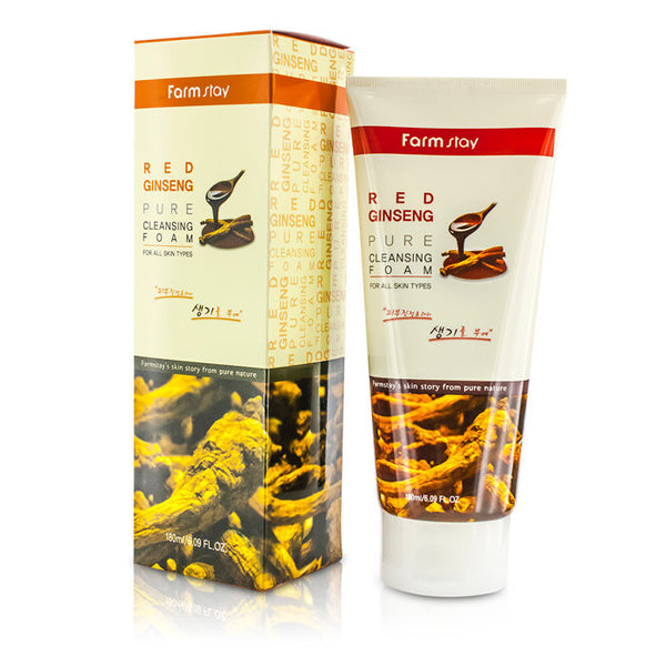 Farm Stay Pure Cleansing Foam - Red Ginseng - 180ml/6.09oz