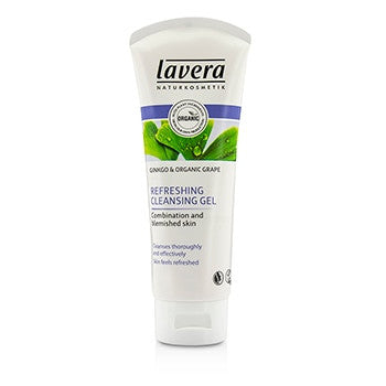 Lavera Ginkgo & Organic Grape Refreshing Cleansing Gel - Combination & Blemished Skin -100ml/3.2oz