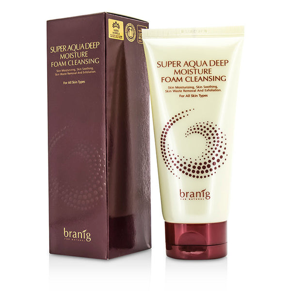 Branig Super Aqua Deep Moisture Foam Cleansing -  150ml/5oz - kiwla.com