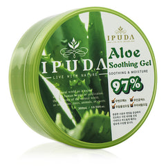 IPUDA 97% Aloe Soothing Gel - 300ml/10.56oz