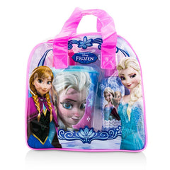 Air Val International Disney Frozen Coffret: Eau De Toilette Spray 100ml/3.4oz + Plastic Cup with Straw + Bag - 2pcs+1bag - kiwla.com