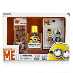AIR VAL INTERNATIONAL  Minions Coffret: Eau De Toilette Spray 50ml/1.7oz + Magnets + Stickers - 3pcs - kiwla.com