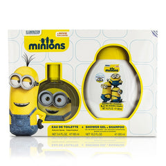 Air Val International Minions Coffret: Eau De Toilette Spray 100ml/3.4oz + Shower Gel & Shampoo 300ml/10.2oz - 2pcs - kiwla.com
