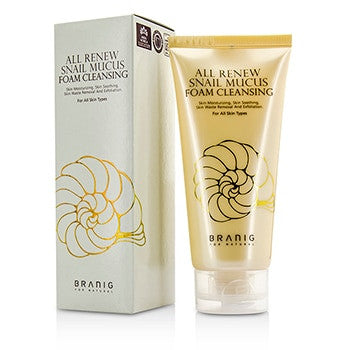 BRANIG All Renew Snail Mucus Foam Cleansing -150ml/5oz - kiwla.com