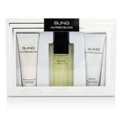 Alfred Sung Sung Coffret: Eau De Toilette Spray 100ml/3.4oz + Body Lotion 75ml/2.5oz + Shower Gel 75ml/2.5oz -  3pcs - kiwla.com