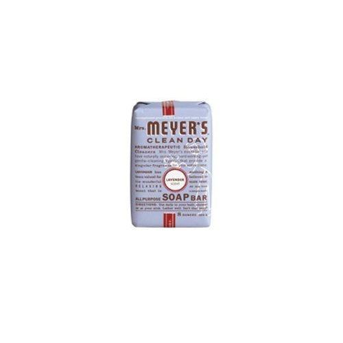 Mrs Meyers Clean Day Lavender All Purpose Soap Bar, 5.3 Ounce -- 12 bars per case.