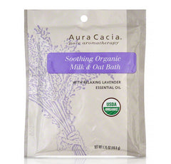 Aura Cacia SOOTHING ORGANIC MILK & OAT BATH (With Relaxing Lavender Essential Oil) (1.75oz) 49.6g