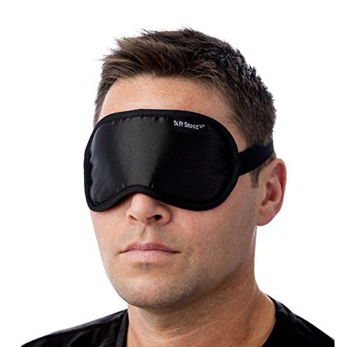 Soft SnooZ'zzz® Lightweight Sleep Mask - Breathable, Sleek Design, Soft & Comfortable. Excellent Light Block. Unisex Eye Mask. Carry Pouch Included with Sleeping Mask