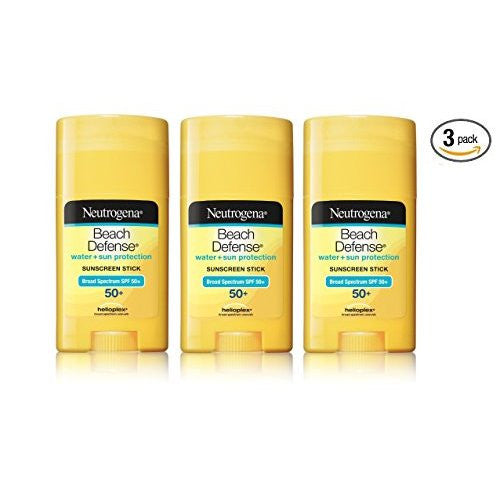 Neutrogena Sunscreen Beach Defense Sunblock Stick SPF 50, 1.5 OZ (PACK OF 3)