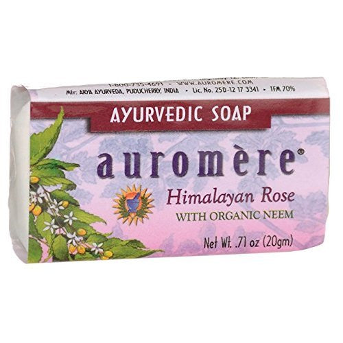 Auromere Ayurvedic Soap - Himalayan Rose 0.71 oz (20 grams) Bar(S)