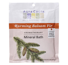Aura Cacia MINERAL BATH SALT (Warming Balsam Fir) 1 Packet - kiwla.com