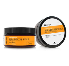 BIOVEA Skincare ORGANIC SHEA BUTTER SCRUB (Organic - Sweet Orange) (8oz) 236.5ml
