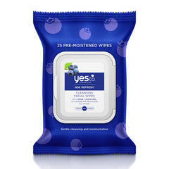 Yes To Blueberries Cleansing Facial Wipes x25