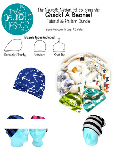 QUICK! A Beanie! Sewing Pattern & Tutorial - A4