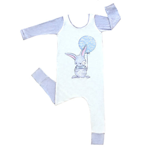 3-4T pull-up bunny balloon romper