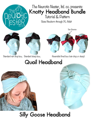 Knotty Headband Bundle Pattern & Tutorial - US Letter