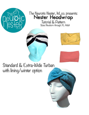 Nester Headwrap Headband Pattern and Tutorial - A4