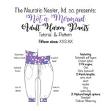 Not a Mermaid | Adult Parachute Lounge Pants Sewing Pattern & Tutorial A4 print