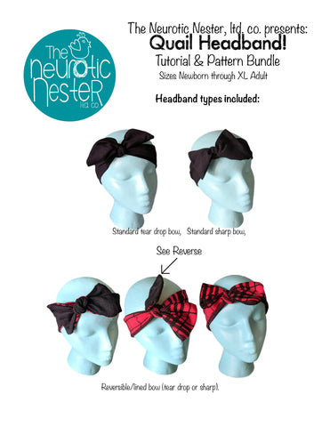 Quail Headband Pattern & Tutorial - US Letter