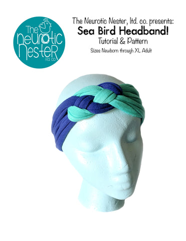 Sea Bird Headband Pattern & Tutorial - A4