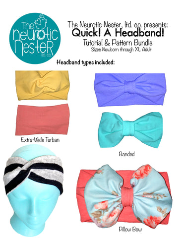QUICK! A Headband! Sewing Pattern & Tutorial - A4