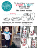 QUICK! A Scarf! Sewing Pattern & Tutorial - A4